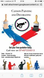 All aspects of painting and decorating 20 years experience