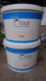 Wilko Colour Matt Emulsion Paint Magnolia 7.5ltr