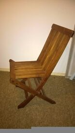 Quality Folding Wooden Chair (ideal inside or out!)