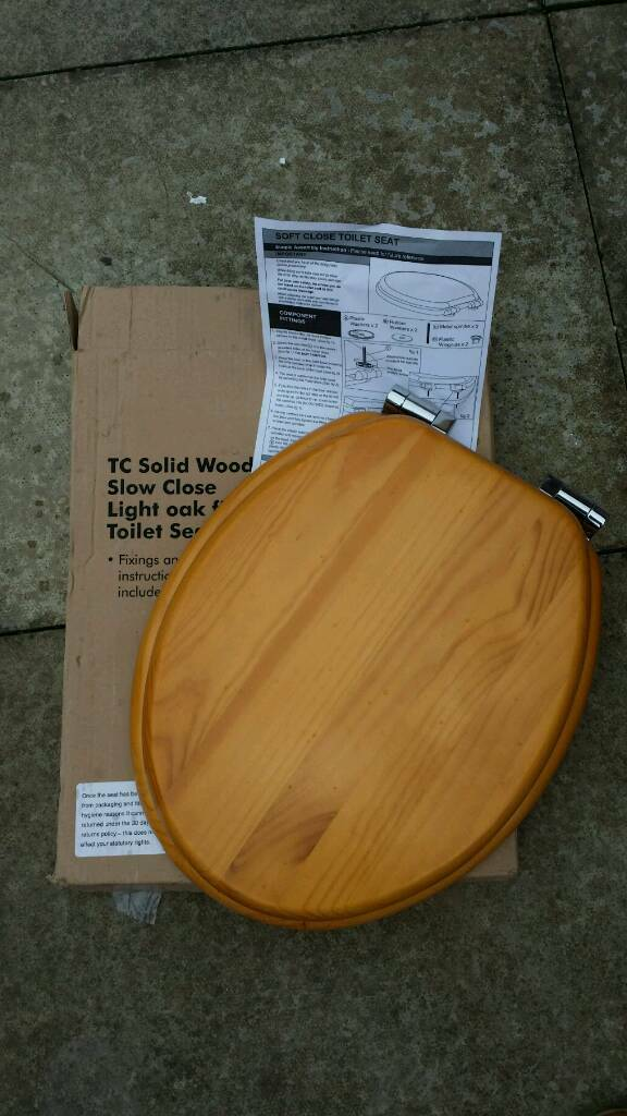 solid wood soft close toilet seat. New Boxed Soft Close Solid Wood Toilet Seat  In Dunfermline Fife