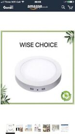 Led Surface Mounted Ceiling Light-18W Round Ceiling Down Light Fitting 6000K/Daylight for Bathroom,