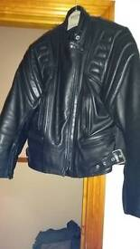 Womens real leather bike jacket size 14