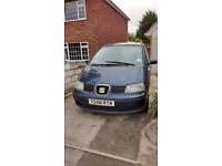 Seat Alhambra - It's a right old shed but it keeps going and has 7 seats