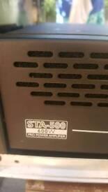 Stageline 600 watt amplifier