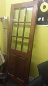 Solid glazed interior door