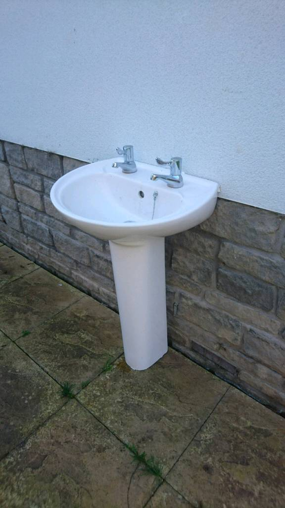 Basin and toilet