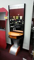 Salon Mirror, Shampoo Unit, Styling Chair, Message Table