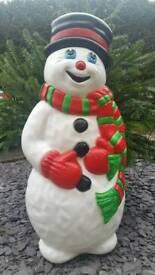 Large Illuminated Snowman