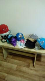 RAZ-ZALVAGE BUNDLE LOT UNISEX CAPS HATS PEAKED DESIGNER JOBLOT MIXED LOT PEAKED CAP COLLECTION