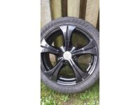 "Wolf race alloys with tires 4 stud 15"" £120!!"