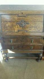 Antique writing desk /drawers