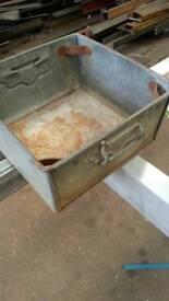 Shabby Chic Vintage Metal Box