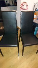 6 x black dinning chairs in excellent condition