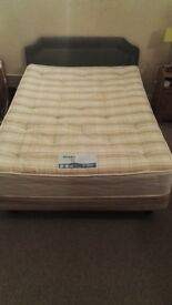 Double bed with the mattress