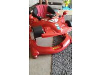Baby walker red racing car