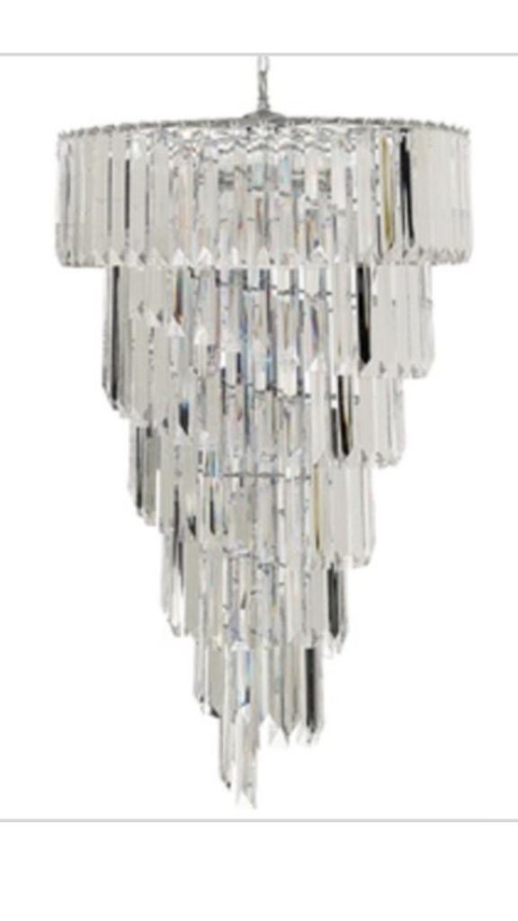 Large spiral chandelier