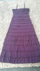 Stunning long purple dress