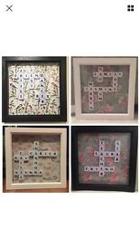 Personalised High Quality Scrabble Frames Christmas Gift