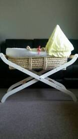 Mothercare moses basket and stand £20 ono