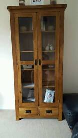 Oak furniture land presentation cabinet
