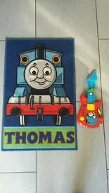Small Thomas rug with musical guitar