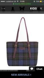 Joules tartan/tweed mapplewell handbag