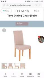 Dining room chairs - brand new Harvey's
