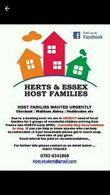 Host Families Required