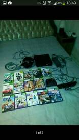 Xbox 360s + kinect +games and earphones