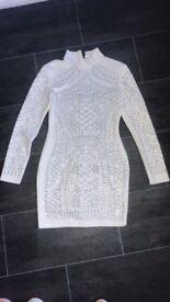 White studded dress