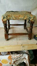 Wooden foot stool