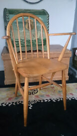 Ercol Dining Chair Carver Hoop Back Windsor