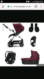 Mamas and Papas Sola pram, buggy & Cybex car seat