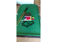 BCE 6ft Snooker/pool table - folding