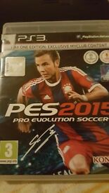 PES 2015 for ps3 to sell