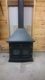 Stove gas coal effect black