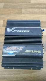 Alpine car audio amplifier in good working order can deliver or post!