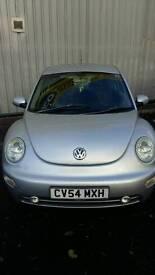 VW Beetle **REDUCED ** Tdi 54 plate Silver Diesel 1896cc , date of registration 14/9/04 Mot Oct 17