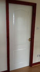 Internal white arched grained doors - all excellent condition