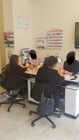 nail space for 3 tables