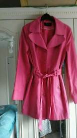 Pink trench coat.crumlin, blackwood .will post