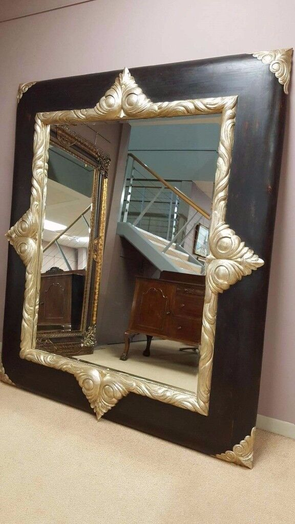 solid wood mirror, high end item, designer with certification,