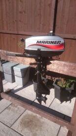 MARINER 2.5HP / 3.3HP 2 STROKE STANDERED SHORT SHAFT FOR DINGHY DINGY TENDER RIB SIB BOAT
