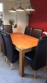 Next Hartford Extending Dining Table & 6 Chairs