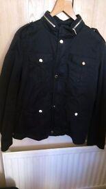 Zara Black Mens Cotton Casual Jacket Size L