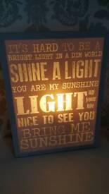 Printed light box