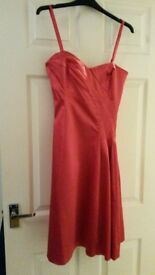 Coast red dress. Size 10. Knee length. Detachable straps. Worn twice. Dry cleaned.
