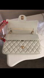ladies white handbag