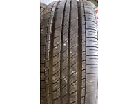 1 car tyre in very con. Lengh x3 x5 inches. Rim E/7 1/2J. SEH2 IS40 IS CODE FOR TYRE