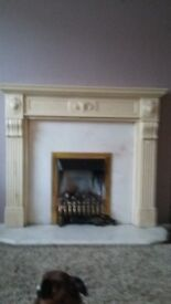 Fireplace for sale,a marble fireplace and its surround,fire not included.